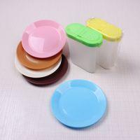 创意塑料小吃碟 瓜子糖果零食碟子餐具圆形小盘子厨房小礼品赠品