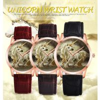 速卖通WISH热卖 PAPHITAK 独角兽皮带手表男表女表情侣学生手表