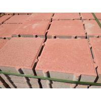 郑州透水砖厂家 一次压成建菱砖、生态透水砖