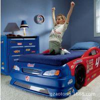 美国STEP2原装进口塑料婴儿床可变换赛车床塑料加厚汽车儿童床