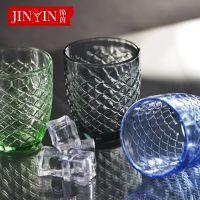 百丽儿 工厂直销新品水杯单层玻璃杯简约机压蛋杯原色餐厅果汁杯