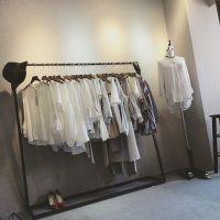 简易个性衣服服装架服装店陈列架侧挂设计师款落地衣架服装展示架