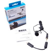 BOYA博雅 BY-LM20 Gopro运动摄像机话筒单反手机专业领夹式麦克风