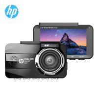 HP惠普f860 迷你行车记录仪高清夜视前后双镜头汽车停车监控1080p