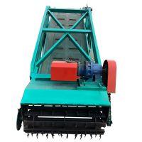 带移动轮的青贮取料机 扒草机操作流程 自动往撒料车装料的取草机