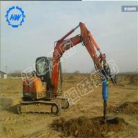 地基打桩机挖机改螺旋打桩机 农村盖房子打地基用的打桩机
