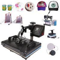 平板8八合一组合热转印机器 多功能热转印机 t恤烫画机衣服烫印机
