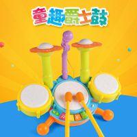 协成儿童架子鼓爵士鼓玩具宝宝早教益智音乐鼓敲打击乐器