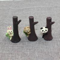 zakka杂货 日式decole concombre躲树后青蛙兔子熊猫动物留言夹