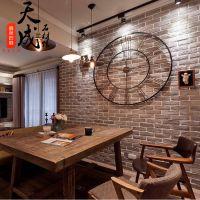 文化砖仿古砖文化石烟熏黑色灰色做旧背景墙咖啡馆酒吧装修用材