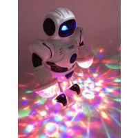 现货厂家批发儿童电动跳舞玩具智能机器人旋转跳舞七彩灯光音乐