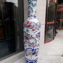 陕西龙纹大花瓶 西安龙图案开业庆典陶瓷大花瓶 景德镇西安代理总库
