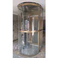 浙江宁波项目--家用别墅电梯铝合金半圆形框架井道-观光电梯井道框架
