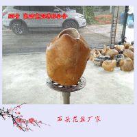 黄蜡石花盆图片 天然石材花盆多少钱一个 广东黄蜡石厂家