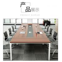 南昌厂家直销办公会议桌简约现代小型职员开会洽谈培训桌椅组合长条桌