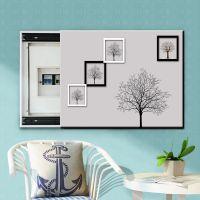 创意黑白现代简约电表箱装饰画可遮挡式配电箱网线盒集线箱推拉画
