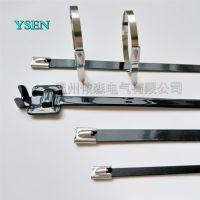 香港出口不锈钢扎带 304船用捆绑带 耐酸碱金属扎条 10*500MM特价直销