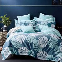 纯棉四件套 活性印花全棉斜纹单双人床上用品床单被套4件套批发