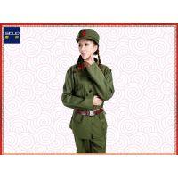 文革红卫兵绿军装革命解放服饰演出服装表演写真摄影65式老军装女