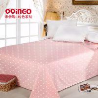 纯棉波点床单单件单人粉色1.0m/1.2m/1.5m/1.8m床双人褥单公主粉