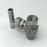 304不锈钢高压针阀TENHEFLOW一字型针式内螺纹截止阀【厂家直销】