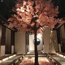 仿真樱花树假桃花树大型植物室内酒店商场客厅装饰
