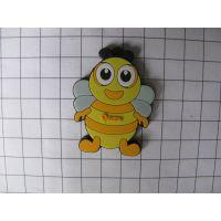 卡通PVC钥匙扣定做 PVC塑胶公仔钥匙扣 平面小蜜蜂钥匙扣