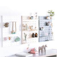 2208塑料洞洞板收纳客厅厨房卧室隔板墙壁壁挂墙上置物架