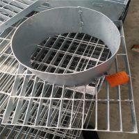 圆形梯形脱硫塔平台板G305/30/50/异形钢格栅板生产厂家