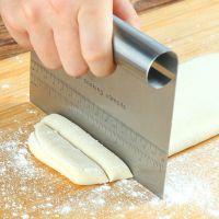 不锈钢切面刀具刮刀一体蛋糕奶油肠粉刮刀刮板刮片面团烘焙切割刀