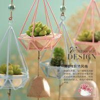 日式创意生日铁艺女生卧室迷幻森林陶瓷风铃挂饰礼物小笼子多肉