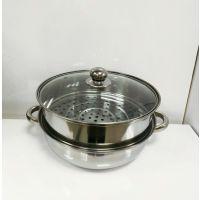 不锈钢汤蒸锅  促销活动礼品 广告积分抽奖奖品 进店随手礼
