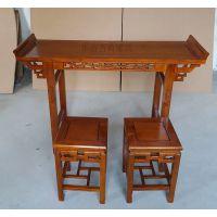 实木古典中式辅导班课桌椅培训班课桌椅衡杨