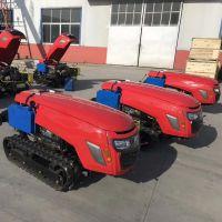 河南果园多功能履带式旋耕机 自动变速调节多动能履带式果树旋耕机