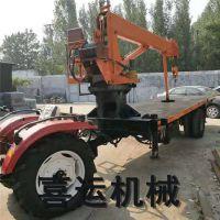 喜运厂家改装6-12吨农用工程用自卸断气刹四驱全液压运杆吊移动悬臂吊