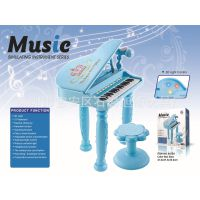 女孩钢琴带麦克风可插电宝宝早教益智玩具琴梦幻电子琴带USB
