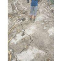 重庆坑基岩石拆除岩石撑裂机