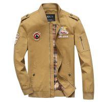 跨境专供速卖通新款军旅风空军一号男式夹克外套速卖通亚马逊大码
