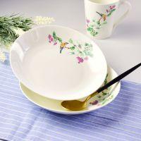 达美瓷业批发陶瓷餐具 骨质瓷热菜盘 家用大容量盘子 定制礼品