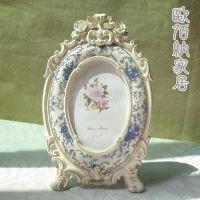 6寸英伦一件起混批玫瑰花田园树脂欧式相框相时尚新款相框批发