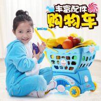 儿童卡通购物车玩具儿童过家家仿真超市男女孩学步小推车1-3-6岁