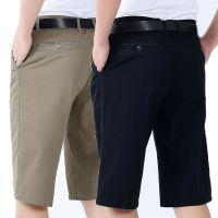 夏季纯棉中年男士七分裤宽松大码西装短裤爸爸裤子中老年人7分裤