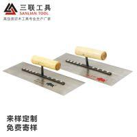 生产定制 五金建筑工具0.6加厚9钉泥抹子 KT16木制手柄油工抹泥板