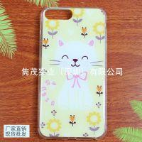 新款滴胶防摔iphone手机壳创意透明苹果保护套小猫咪卡通软壳tpu
