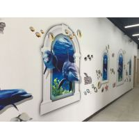 户内外高清墙体打印机广告墙体彩绘喷绘机3背景墙壁墙面绘画机