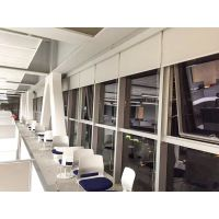 长沙市办公窗帘 0731-88554480之办公卷帘:卷帘面料分全遮光、半遮光、普通遮光、阳光卷