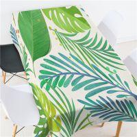 合肥批发现代简约树叶餐厅桌布茶几垫布盖布 防水防烫防油免洗