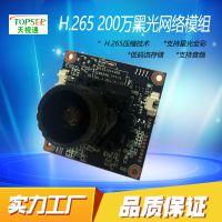 天视通H38P 200万H265+黑光网络高清模组配宇瞳F1.0镜头一体模组