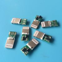 苹果公头 插板式 数据线插头 绿色PCB板焊线式 苹果插头