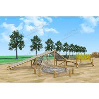 幼儿园户外设计 木质组合滑梯 原木拓展游乐设施 生态园林攀爬滑梯 厂家直销定做